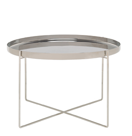 HABIBI - Side table, stainless steel
